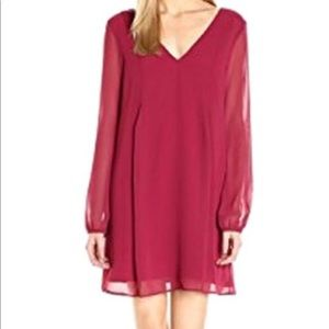 NWT long sleeve red dress